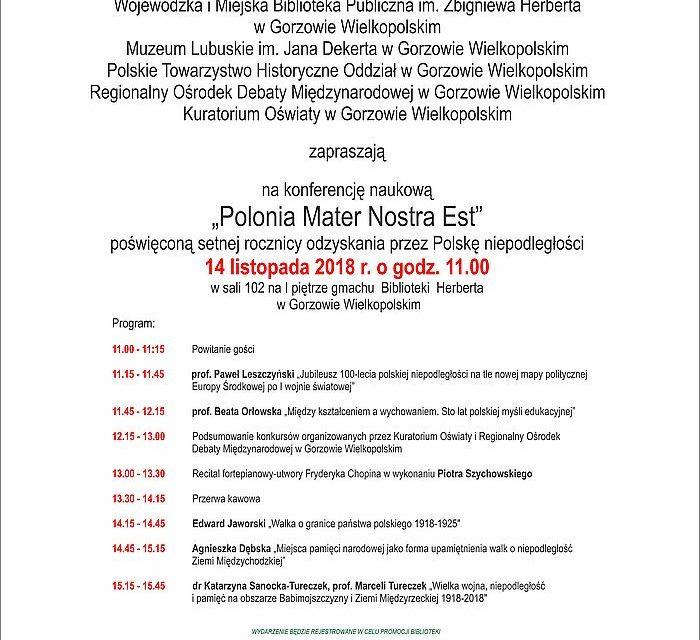 """Konferencja naukowa """"Polonia Mater Nostra Est"""""""
