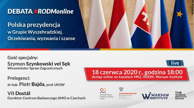 Debata ekspercka: Polska prezydencja w Grupie Wyszehradzkiej – oczekiwania, wyzwania i szanse