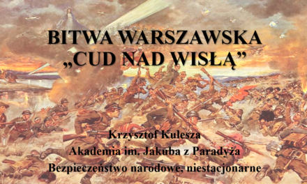 """Akacja Edukacja – lekcja """"Cud nad Wisłą"""""""