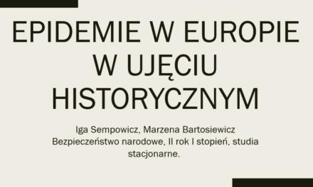 """Akcja edukacja – lekcja """"Epidemie w ujęciu historycznym"""""""