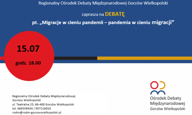 """""""Migracje w cieniu pandemii – pandemia w cieniu migracji"""""""