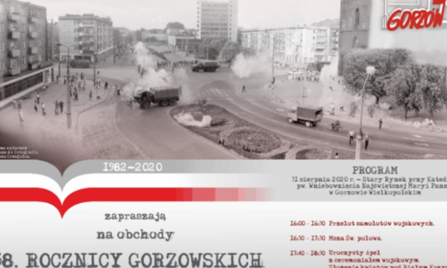 38. rocznica Wydarzeń Sierpniowych w Gorzowie