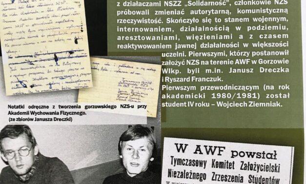 Mija 40 lat od powstania Niezależnego Zrzeszenia Studentów Gorzowskiej Filii AWF.