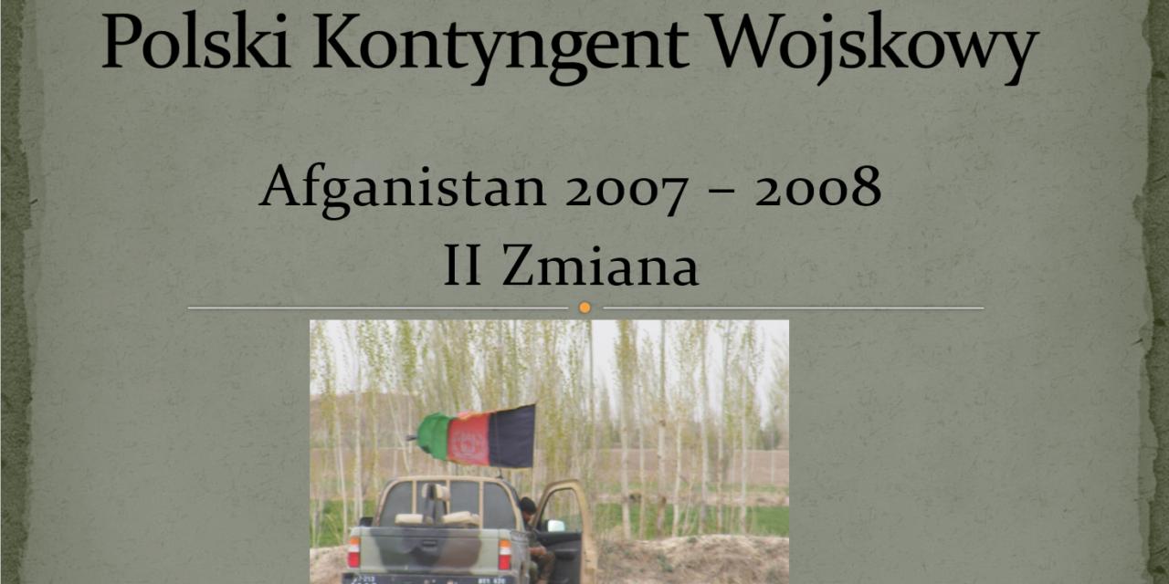 polski kontyngent wojskowy – afganistan