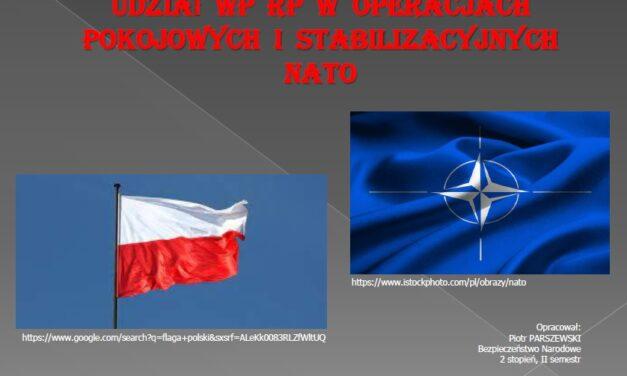 Udział WP RP w operacjach pokojowych i stabilizacyjnych NATO