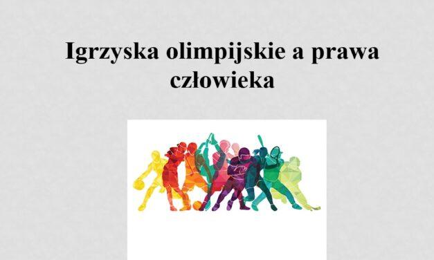 igrzyska olimpijskie a prawa człowieka